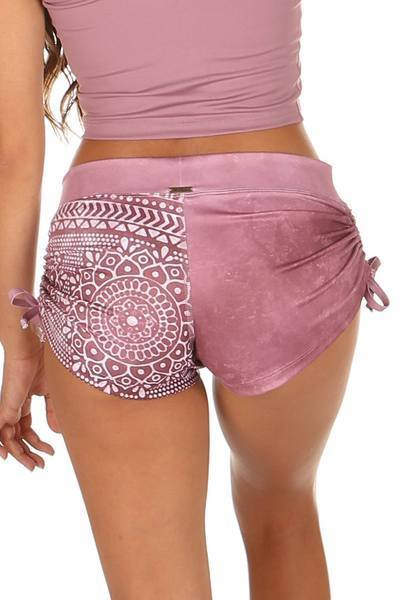 Lucia Short Prints estampados Mistic Mauve Mika Yoga Wear Mika Pole Wear Spain Dance Fitness Swimwear