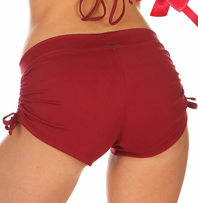 Lucia_Short_Chili_Red_Short_Mika_Pole_Wear_Yoga_Wear_Fitness_Dance (2)