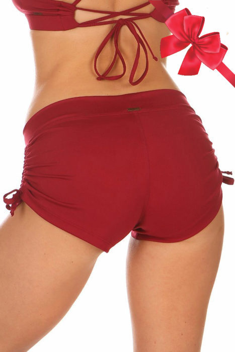Lucia Short Chili Red Short Mika Pole Wear Yoga Wear Fitness Dance. Short rojo. Short color rojo.