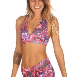 Maya Top Print Goddess Mika-Pole Yoga Wear Fitness Dance