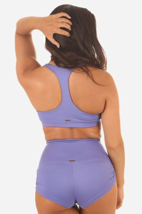 Tienda Online de Pole Dance Top Pole Hot Yoga Bikram Danza Maya Top Wisteria Blue Color Mika Pole Wear Spain