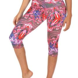 Mia High Waisted Capri High Waisted Capris-Mika-Yoga Pole Yoga Wear-Fitness-Dance Ropa Yoga Ropa Fitness. Capri estampado. Capri print.