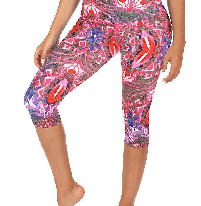 Mia Capri High Waisted Capris-Mika-Yoga Pole Yoga Wear-Fitness-Dance Ropa Yoga Ropa Fitness. Capri estampado. Capri print.