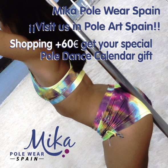 Mika Promoción Pole Art Spain 2017. Sponsor campeonato Pole Art Spain. Patrocinio Campeonato Pole Dance.