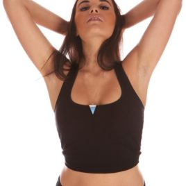 Serene Top Fitness Pole Dance Yoga Black Top Mika Pole Wear Spain Mika Yoga Wear Spain Fitness Wear Dancewear Swimwear