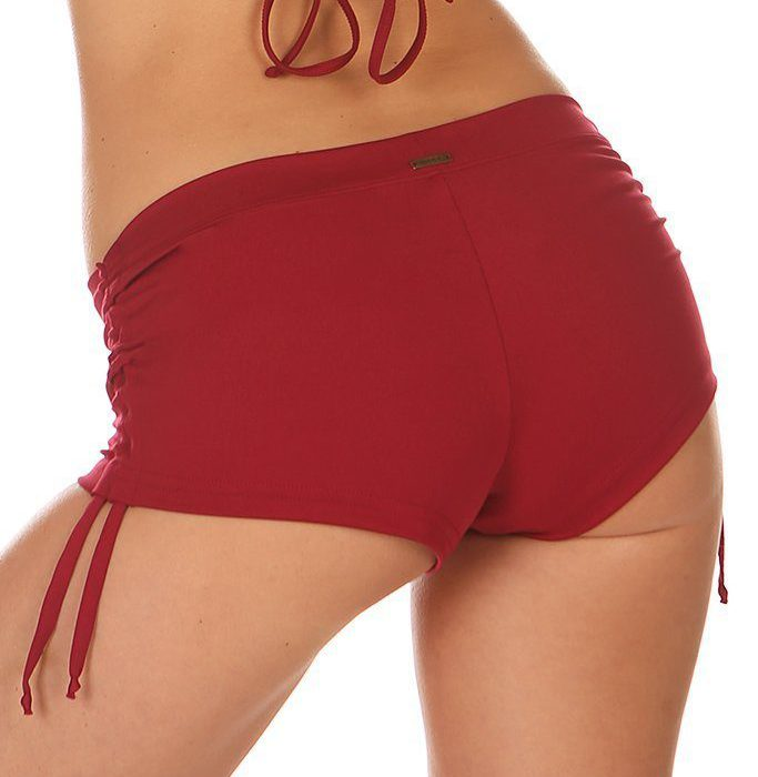 Mikaela Short Chili Red Short Rojo Mika Yoga Wear Spain Pole Wear Spain Fitness Dance