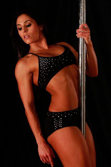 Tula Top Pole Brillantes Black Top Black Bra Mika Pole Wear Spain Mika Yoga Wear Spain