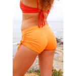 Lucia short pole. Orange Short. Sport Short. Pole Short. Yoga Short.