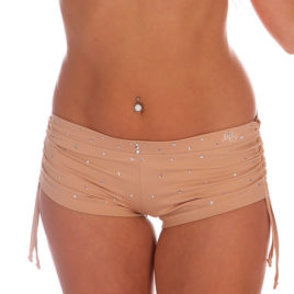 Mikaela Short Sparkles Sand. Sparkles collection. Mika Pole Wear Spain.